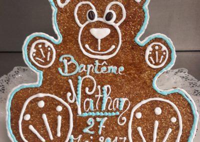 Un gâteau spécial en forme d'ours